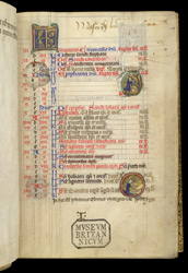 January, With An Illuminated Roundel, In The Calendar Of The Felbrigge Psalter